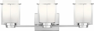 Kichler 45948CH Chagrin Contemporary Chrome 3-Light Bathroom Light
