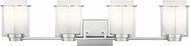 Kichler 45949CH Chagrin Modern Chrome 4-Light Bathroom Lighting Fixture