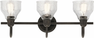 Kichler 45973OZ Avery Modern Olde Bronze 3-Light Bath Lighting Fixture