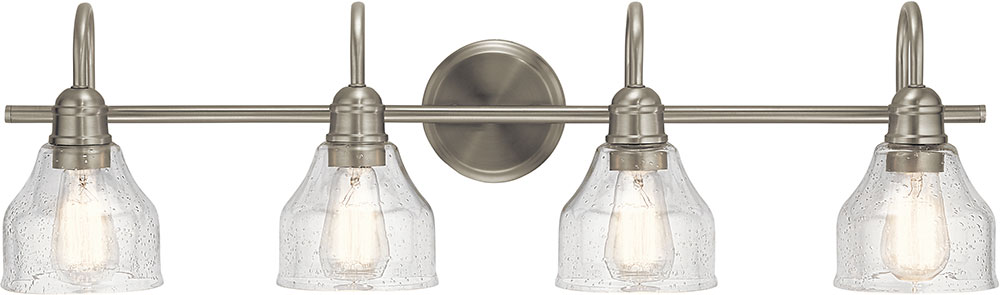 Kichler 45974NI Avery Contemporary Brushed Nickel 4-Light Bathroom Light  Fixture