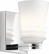 Kichler 45975CH Victoria Contemporary Chrome Halogen Lighting Wall Sconce