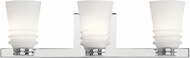 Kichler 45977CH Victoria Contemporary Chrome Halogen 3-Light Bathroom Sconce