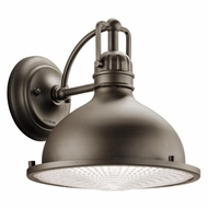 Kichler 49067OZLED Hatteras Bay Nautical Olde Bronze Finish 10.5 Wide LED Outdoor Wall Lamp