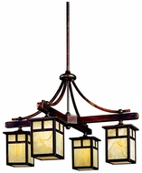 Kichler 49091CV Alameda 25 Inch Long Outdoor Chandelier Lighting