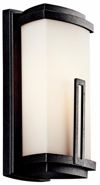 Kichler 49110 Leeds Modern 12 Inch Tall Anvil Iron Outdoor Wall Sconce