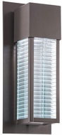 Kichler 49118AZLED Sorel Contemporary Architectural Bronze LED Outdoor Wall Mounted Lamp