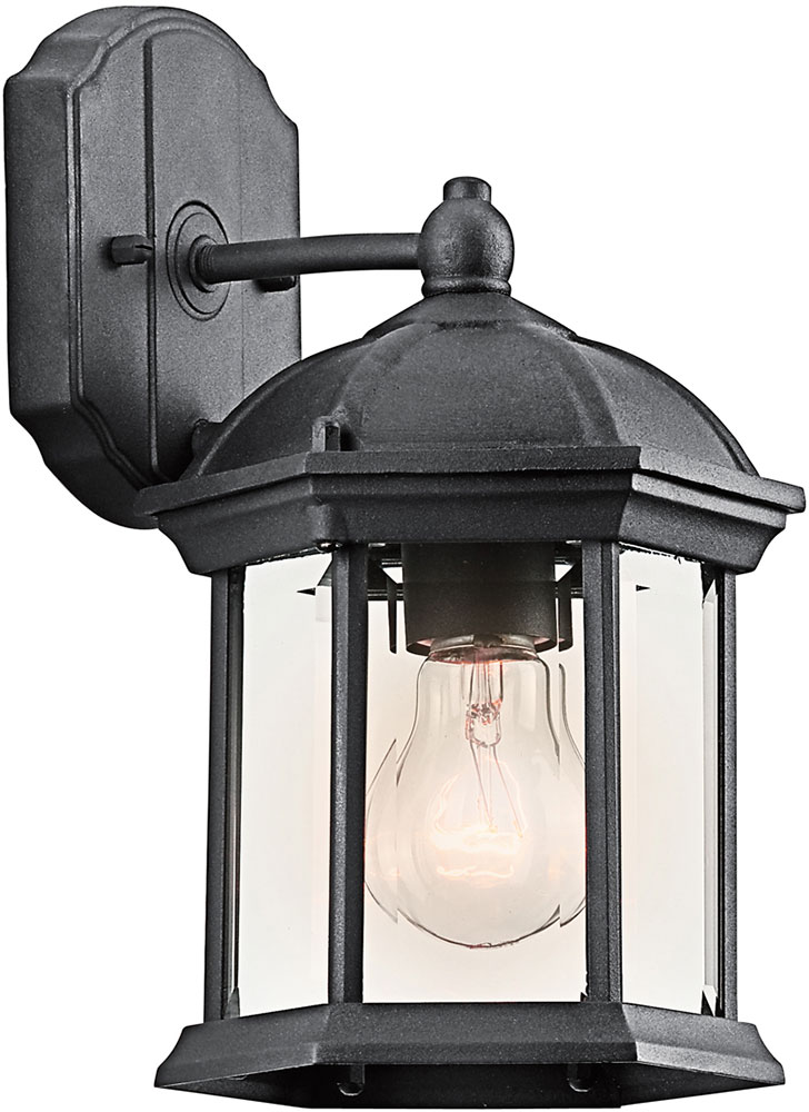 Kichler 49183bkl16 Barrie Traditional Black Led Outdoor Wall Light Fixture