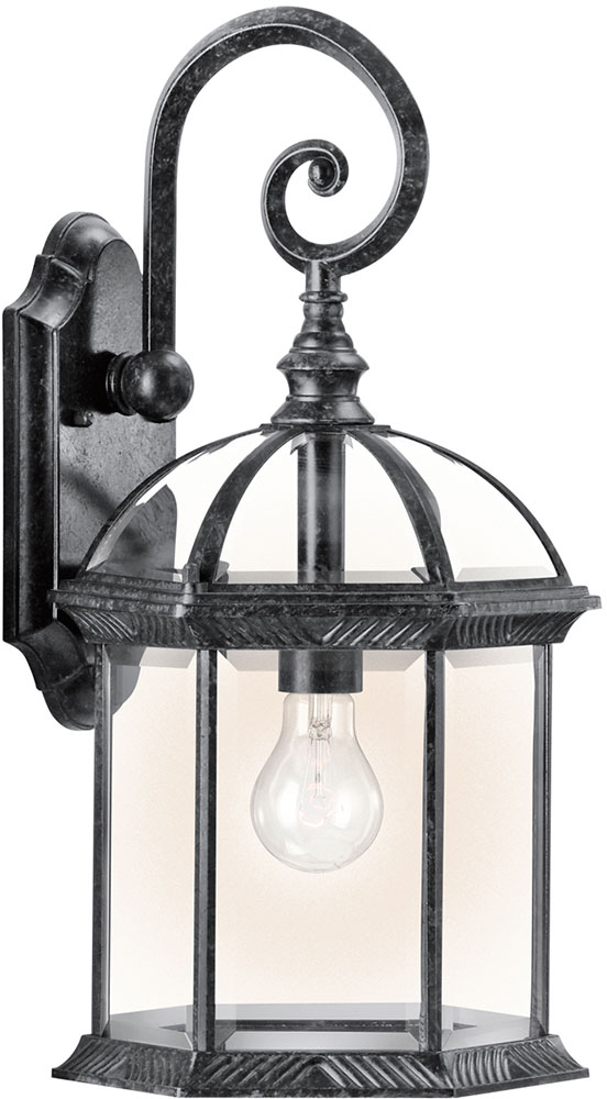 Kichler 49186bkl16 Barrie Traditional Black Led Outdoor Wall Lighting Sconce