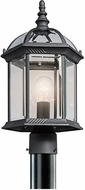 Kichler 49187BKL16 Barrie Traditional Black LED Outdoor Post Lighting