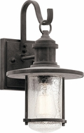 Kichler 49192WZC Riverwood Weathered Zinc Exterior 8  Lighting Sconce