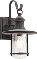 Kichler 49193WZC Riverwood Weathered Zinc Outdoor 9.5  Lamp Sconce