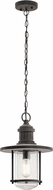 Kichler 49196WZC Riverwood Weathered Zinc Exterior Lighting Pendant
