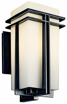 Kichler 49202 Tremillo 17 Inch Tall Black Contemporary Exterior Wall Lighting