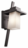 Kichler 49258AZ Stonebrook Architectural Bronze 23 Inch Tall Large Contemporary Outdoor Sconce