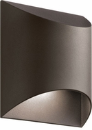 Kichler 49278AZTLED Wesley Modern Textured Architectural Bronze LED Outdoor Wall Light Sconce