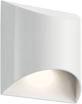 Kichler 49278WHLED Wesley Contemporary White LED Outdoor Wall Light Sconce