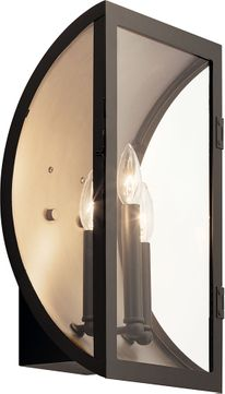 Kichler 49288OZ Narelle Contemporary Olde Bronze Outdoor Wall Mounted Lamp