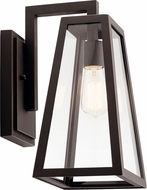 Kichler 49331RZ Delison Contemporary Rubbed Bronze Outdoor Wall Light Sconce