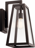 Kichler 49332RZ Delison Modern Rubbed Bronze Exterior Wall Sconce Light