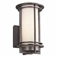 Kichler 49344AZFL Pacific Edge Architectural Bronze Fluorescent Outdoor Small Wall Sconce Lighting