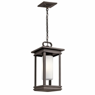 Kichler 49493RZ South Hope Rubbed Bronze Exterior Pendant Lighting
