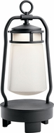 Kichler 49500BKTLED Lyndon Contemporary Textured Black LED Portable Bluetooth LED Lantern