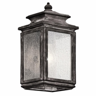 Kichler 49501WZC Wiscombe Park Traditional Weathered Zinc Finish 12.25 Tall Exterior Wall Sconce Lighting