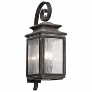 Kichler 49503WZC Wiscombe Park Traditional Weathered Zinc Finish 26.25 Tall Exterior Lighting Wall Sconce