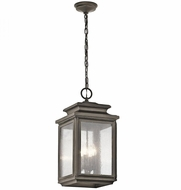 Kichler 49505OZ Wiscombe Park Olde Bronze Outdoor Hanging Pendant Light