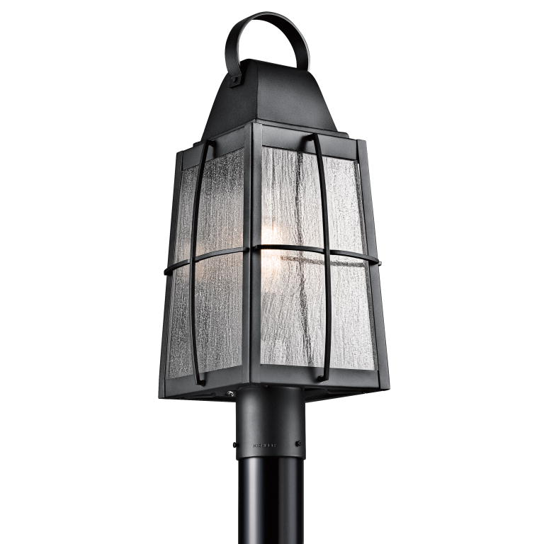 Kichler 49555bkt tolerand traditional textured black finish 2175 kichler 49555bkt tolerand traditional textured black finish 2175nbsp tall exterior post light loading zoom aloadofball Gallery