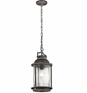 Kichler 49572WZC Ashland Bay Vintage Weathered Zinc Exterior Pendant Hanging Light