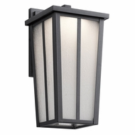 Kichler 49622BKTLED Amber Valley Textured Black LED Outdoor Small Wall Mounted Lamp
