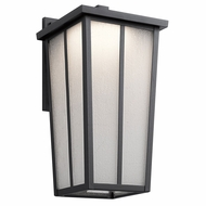 Kichler 49624BKTLED Amber Valley Textured Black LED Outdoor Large Wall Lighting Fixture