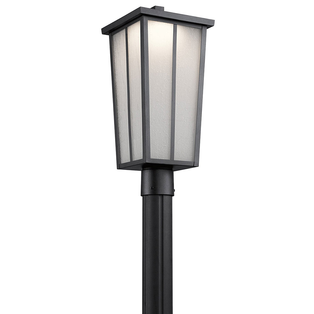Kichler 49625bktled amber valley textured black led exterior kichler 49625bktled amber valley textured black led exterior lighting post light loading zoom aloadofball Gallery