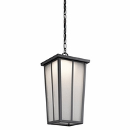 Kichler 49626BKTLED Amber Valley Textured Black LED Outdoor Lighting Pendant