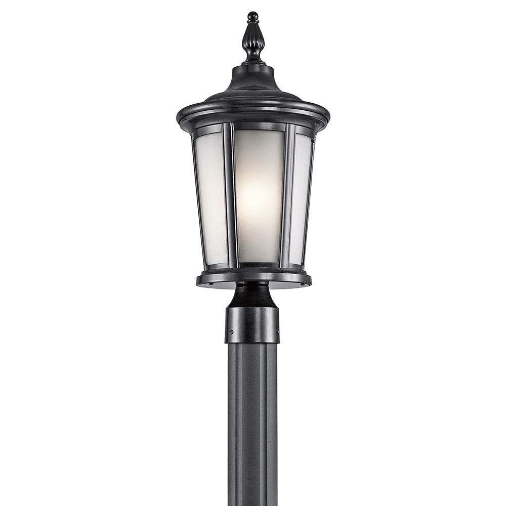 Kichler 49657bk turlee black exterior post lighting fixture kic kichler 49657bk turlee black exterior post lighting fixture loading zoom mozeypictures Image collections