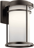 Kichler 49687OZL18 Toman Contemporary Olde Bronze LED Outdoor 14 Wall Lamp