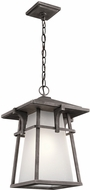 Kichler 49725WZC Beckett Weathered Zinc Exterior Pendant Light Fixture