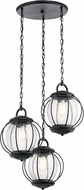 Kichler 49732BKT Vandalia Textured Black Outdoor Multi Hanging Lamp