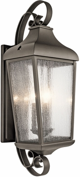 Kichler 49738OZ Forestdale Olde Bronze Outdoor Wall Mounted Lamp