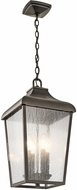 Kichler 49740OZ Forestdale Olde Bronze Outdoor Hanging Pendant Lighting