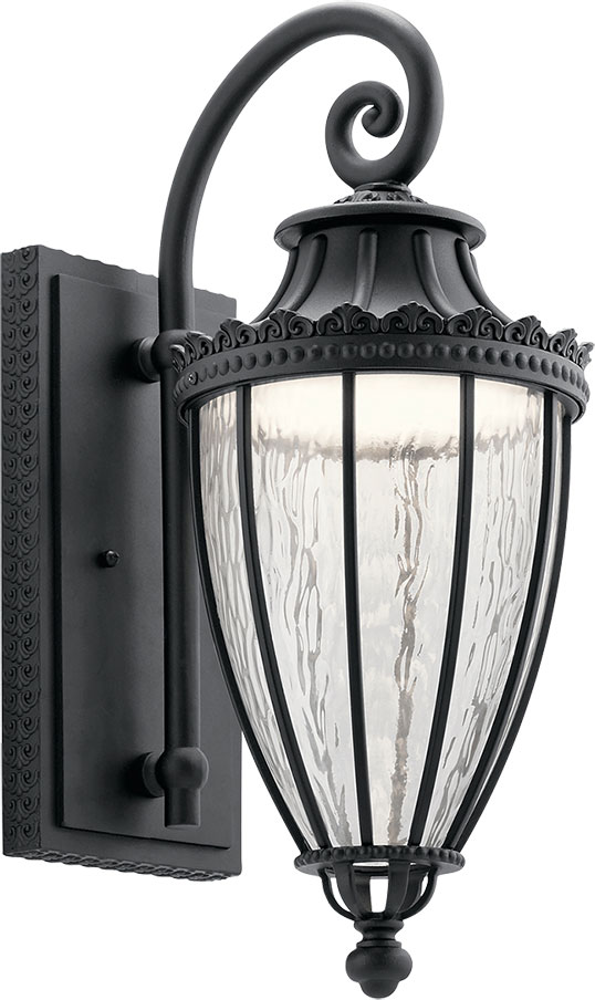 Kichler 49752bktled Wakefield Textured Black Led Outdoor 9 Nbsp Wall Light Sconce Loading Zoom