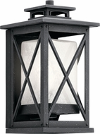 Kichler 49770DBK Piedmont Distressed Black Outdoor 6.5  Wall Light Sconce