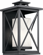 Kichler 49772DBK Piedmont Distressed Black Outdoor 10  Wall Sconce