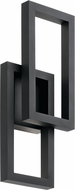 Kichler 49802BKTLED Rettangolo Modern Textured Black LED Exterior 8.25  Wall Sconce Lighting