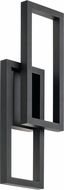 Kichler 49803BKTLED Rettangolo Modern Textured Black LED Exterior 9.5  Lighting Wall Sconce