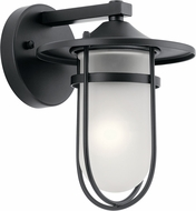 Kichler 49824BK Finn Black Exterior 7  Wall Lighting Fixture