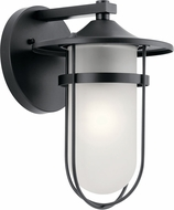 Kichler 49825BK Finn Black Outdoor 9  Wall Light Sconce
