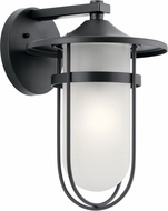 Kichler 49826BK Finn Black Exterior 11  Wall Sconce Light