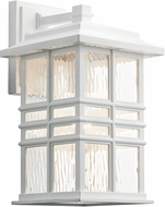 Kichler 49830WH Beacon Square White Outdoor 8 Wall Light Sconce